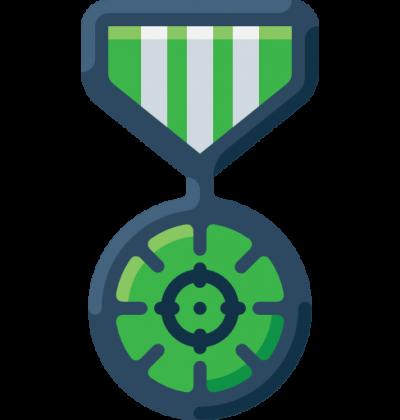 Paintball badge